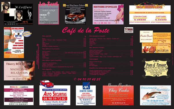 création de sites à partir de 490 € - set de table publicitaire